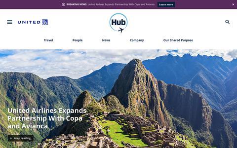 Screenshot of Press Page united.com - United Hub - Newsroom - captured Dec. 2, 2018