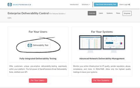 SendForensics Enterprise Deliverability Control