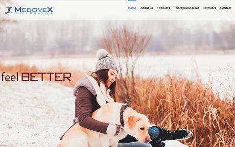 Screenshot of Home Page medovex.com - Medovex - captured Jan. 9, 2016