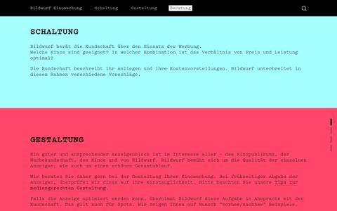 Screenshot of Team Page bildwurf.ch - Beratung — Bildwurf Kinowerbung - captured May 19, 2018
