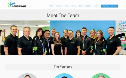 Screenshot of Team Page laborsync.com - Our Founders | Labor Sync - captured Sept. 27, 2014