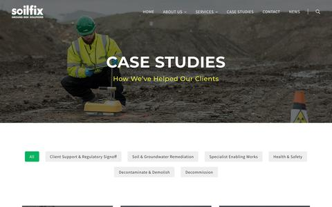 Screenshot of Case Studies Page soilfix.co.uk - Case studies – Soilfix - captured Nov. 16, 2018