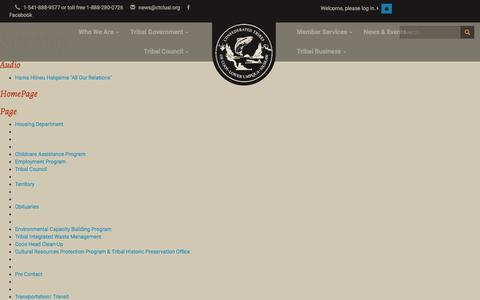 Screenshot of Site Map Page ctclusi.org - CTCLUSI - captured Nov. 10, 2016