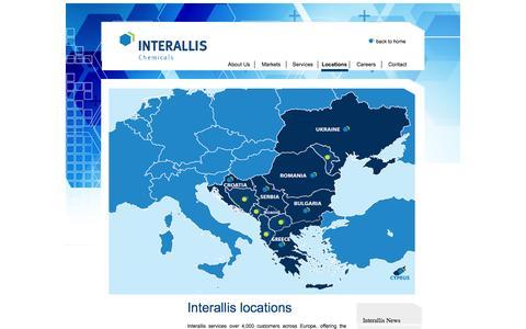 Screenshot of Locations Page interallis.com - Interallis locations - captured Oct. 4, 2014