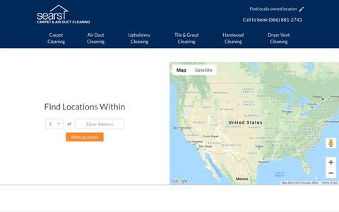 Screenshot of Locations Page searsclean.com - Locations | searsclean.com - captured Feb. 24, 2019