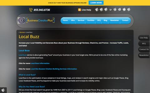 Screenshot of Maps & Directions Page businesscreatorplus.com - Local Buzz-Increase Traffic, Leads, and Sales - captured Oct. 5, 2014