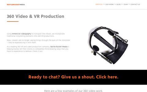 360 Video & VR Production Company | Bottle Rocket Media | Bottle Rocket Media
