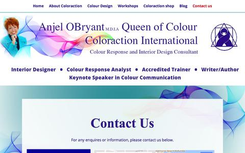 Screenshot of Contact Page coloraction.com.au - Contact us – Coloraction - captured Aug. 13, 2017