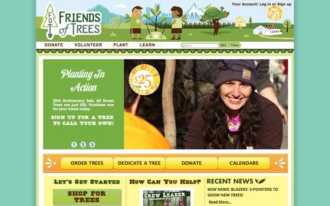 Screenshot of Home Page friendsoftrees.org - Friends of Trees \  Growing Healthy Communities - captured Sept. 19, 2014