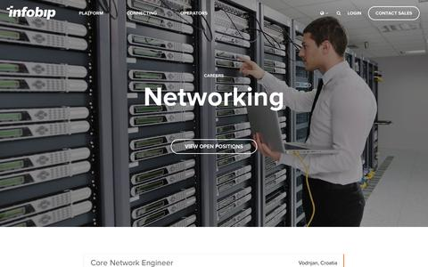 Screenshot of Jobs Page infobip.com - Careers: Networking | Infobip - captured May 3, 2018