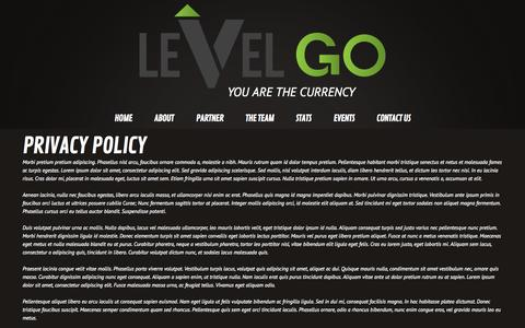 Screenshot of Privacy Page levelgo.com - Privacy Policy  |  LevelGo - captured Oct. 2, 2014