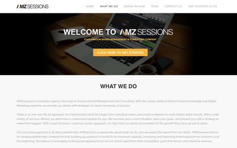 Screenshot of Home Page amzsessions.com - Amzsessions | Amazon Marketing Services | Amazon consulting and services - captured June 28, 2016
