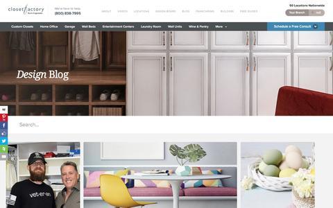 Screenshot of Blog closetfactory.com - Blog - Closet Factory - captured May 18, 2017