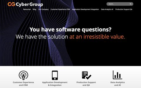 Screenshot of Home Page cygrp.com - Cyber Group - Software & IT Consultants South Central USA - captured July 2, 2019