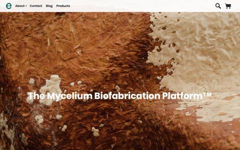 Screenshot of Home Page ecovativedesign.com - Home |      Mycelium Biofabrication Platform | Ecovative | Green Island, New York - captured Nov. 3, 2018