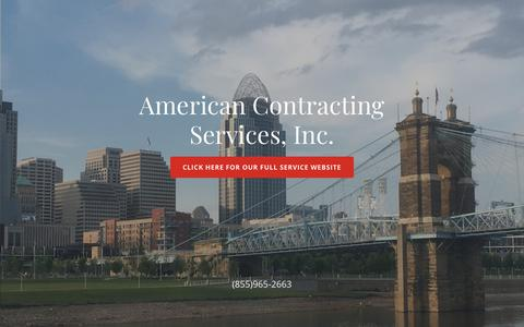 Screenshot of Home Page acsbonds.com - American Contracting Services, Inc. - captured Oct. 3, 2018