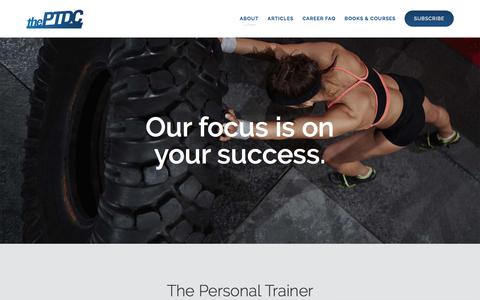 Screenshot of About Page theptdc.com - About | Personal Trainer Development Center | Fitness Marketing Online | The PTDC - captured June 27, 2017