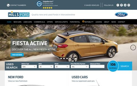 Screenshot of Home Page hillsford.co.uk - New & Used Ford Car Dealers | Used Cars Kidderminster & Malvern - captured July 20, 2018