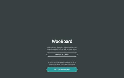 Screenshot of Trial Page wooboard.com - WooBoard - captured Oct. 19, 2018