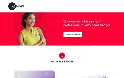 Screenshot of Home Page bigbadgeusa.com - Big Badges USA – Discover our wide range of professional, quality name badges - captured Oct. 26, 2018