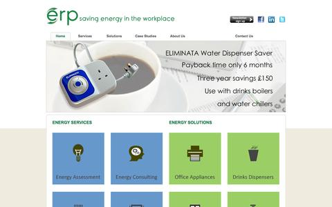 Screenshot of Services Page Case Studies Page energyreducingproducts.com - Energy Saving at Work - captured Oct. 22, 2014