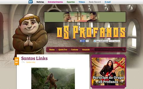 Screenshot of Home Page osprofanos.com - oS Profanos - captured Sept. 22, 2014