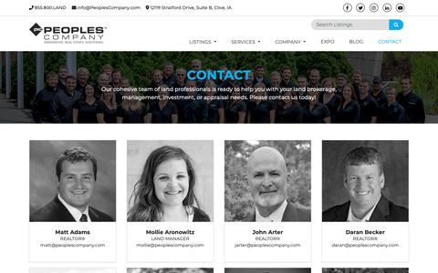 Screenshot of Contact Page peoplescompany.com - Contact Us |  Peoples Company - captured Oct. 21, 2018