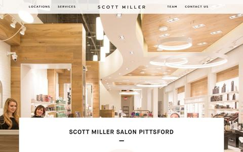 Screenshot of Locations Page scottmillerstyle.com - Scott Miller Salon Pittsford - Scott Miller Salon & Spa Rochester - captured Sept. 30, 2017