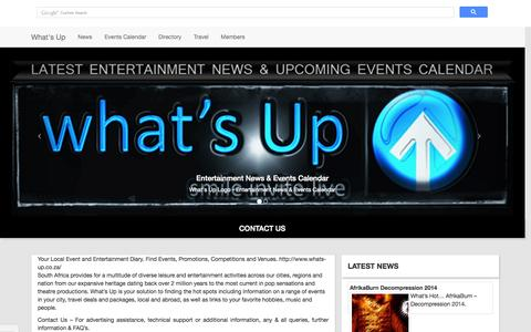 Screenshot of Contact Page whats-up.co.za - Contact Us - captured Sept. 22, 2014