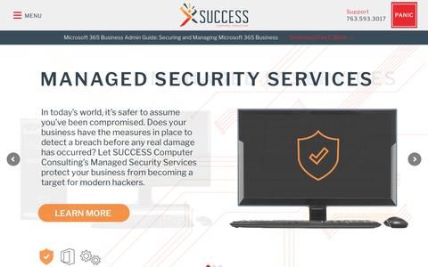 Screenshot of Home Page successcomputerconsulting.com - Your Trusted Business Technology Partner • SUCCESS Computer Consulting - captured July 13, 2019
