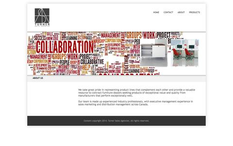 Screenshot of About Page turnersa.com - About Us - captured Oct. 1, 2014