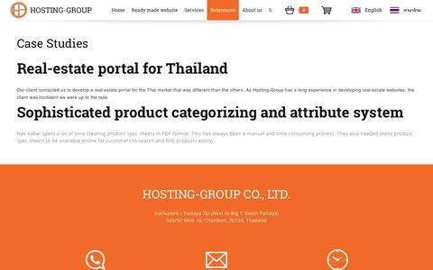 Screenshot of Case Studies Page hostinggroup.biz - Hosting-Group - captured Nov. 12, 2016