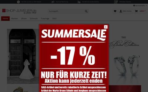 Screenshot of Home Page shop-juwelier.de - Online Shop vom Juwelier Hobil | SHOP-JUWELIER.de - captured Sept. 7, 2015