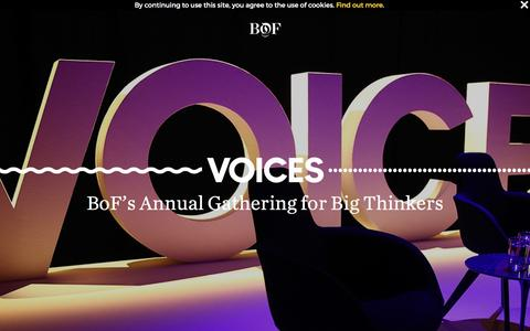 VOICES | BoFs Annual Gathering for Big Thinkers | The Business of Fashion | #BoFVOICES