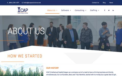 Screenshot of About Page icapsolutions.net - About Us – ICAP Solutions - captured July 19, 2019