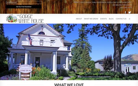 Screenshot of About Page thegorgewhitehouse.com - About - The Gorge White House - captured Sept. 26, 2014