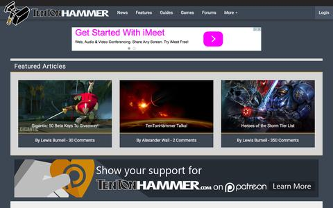 Screenshot of Home Page tentonhammer.com - Ten Ton Hammer | MMO news, guides, interviews, videos and more - captured Dec. 5, 2015