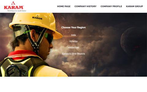 Screenshot of Home Page karam.in - Home - KARAM - captured Oct. 24, 2018