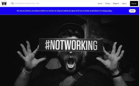 Screenshot of Team Page workingnotworking.com - Team - Working Not Working - captured Feb. 15, 2019
