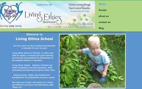 Screenshot of Home Page centerforlivingethics.org - Center for Living Ethics - captured April 15, 2017