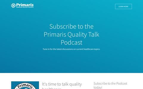 Primaris Quality Talk Podcast