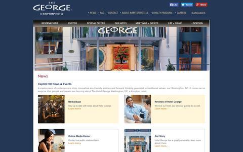 Screenshot of Press Page hotelgeorge.com - Hotel News | Washington DC Events | Hotel George - captured Sept. 22, 2014