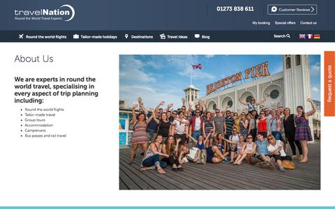 Screenshot of About Page travelnation.co.uk - About Us | Travel Nation - captured June 21, 2017