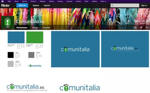Screenshot of Flickr Page flickr.com - Flickr: Comunitalia.es' Photostream - captured Oct. 22, 2014