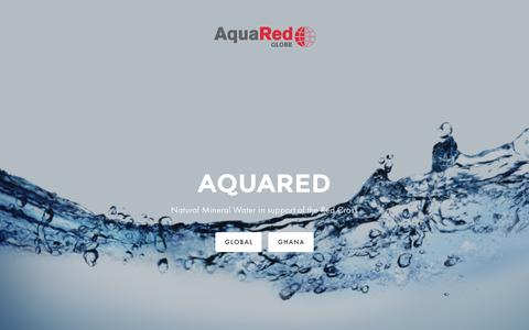 Screenshot of Home Page aquared.org - AquaRed - captured Feb. 6, 2016