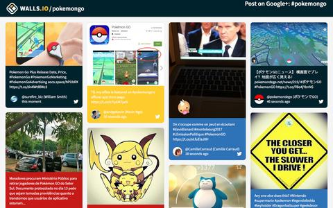 Screenshot of walls.io - Gotta Catch 'Em All! – The Social Wall for Everyone – Walls.io - captured Sept. 22, 2016