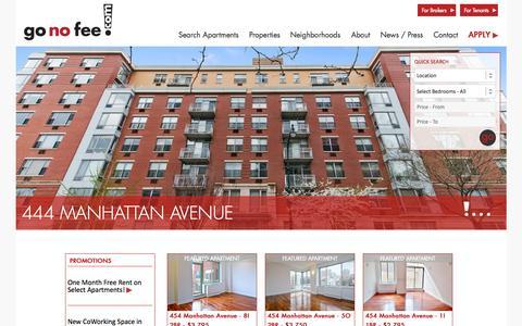 Screenshot of Home Page gonofee.com - Home Page | go no fee - captured July 18, 2015
