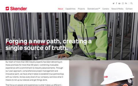 Screenshot of About Page skender.com - The Skender Approach - captured June 4, 2018