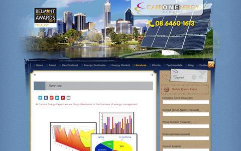 Screenshot of Services Page carbonenergy.net.au - Cheaper Energy Procurement   Carbon Energy Expert - captured Oct. 22, 2014