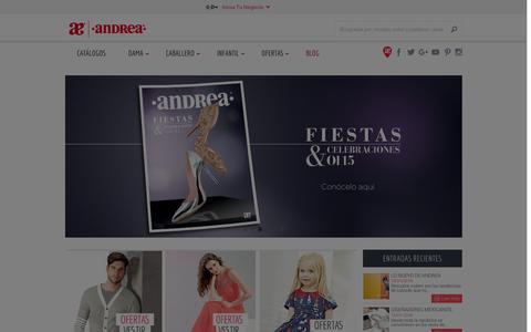Screenshot of Home Page andrea.com - Andrea En El Nombre del Dise�o - captured Jan. 14, 2016